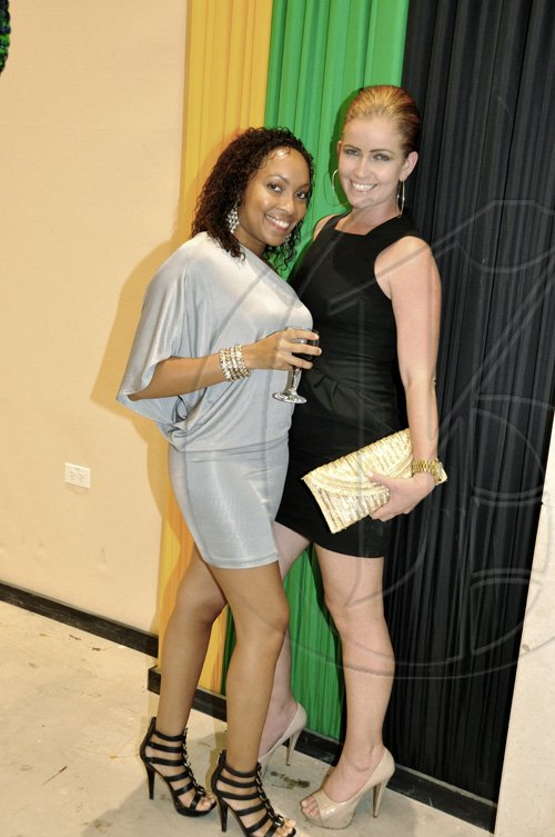 Janet Silvera Photo Niche Event's Dominique Davis (left) and Caribbean Producer's India Crotty looking 'gooooood' at the opening of Caribbean Marketplace at the Montego Bay Convention Centre last Sunday night.