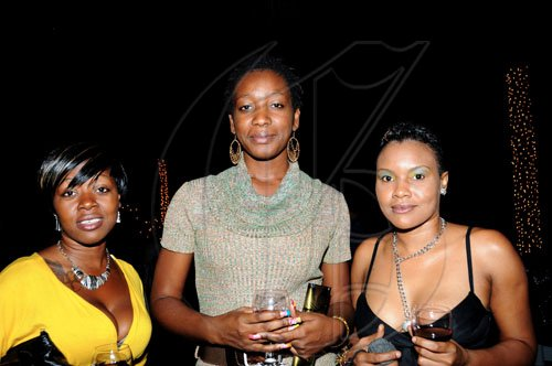 Winston Sill / Freelance Photographer Out for a good time are (from left) Lisa Mitchell, Shunae Palmer and Terry-Ann Holland.  *************************************************************  Mayor Desmond McKenzie host Appreciation Party, held at Eden Gardens, Lady Musgrave Road on Thursday night December 30, 2010.