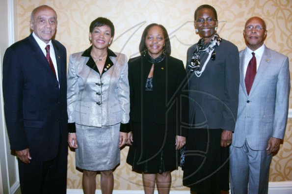 Barbara Ellington/Lifestyle Editor Ambassador Audrey Marks (second left) and consuls general (from left): Dr Alston Meade, Sandra Grant-Griffiths and Beryl Riley.