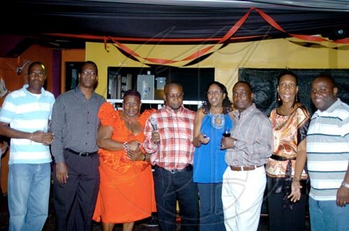 Winston Sill / Freelance Photographer Starting at the left councillors: Byron Clarke, Karl Blake. Marcia Neita. Andrew Swaby. Angela B. Audley Gordon. Audrey Smith Facey. Kevin Taylor.   ***************************************************Angella Brown-Burke celebrates her birthday with family, friends and party colleague at party, held at The Quad, New Kingston on Monday night April 26, 2010.