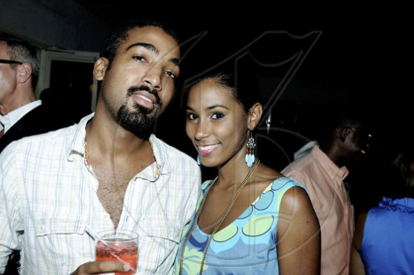 Winston Sill / Freelance Photographer Kandi King and Byron Purkiss.    Caribbean Fashion Week (CFW) Opening Reception, held at Spanish Court Hotel, New Kingston on Thursday night June 9, 2011.