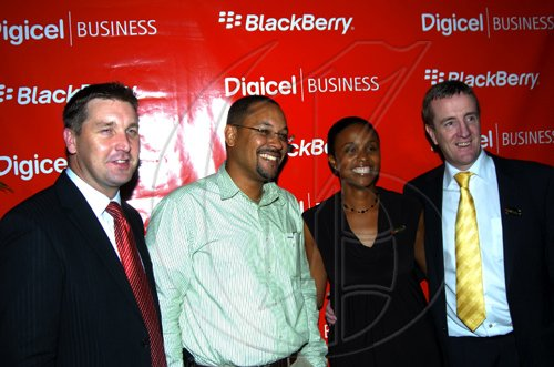 Winston Sill / Freelance Photographer Digicel launch new Blackberry Bold 9700 smart phone, held at Spanish Court Hotel, St. Lucia Avenue, New Kingston on Monday night February 8, 2010.