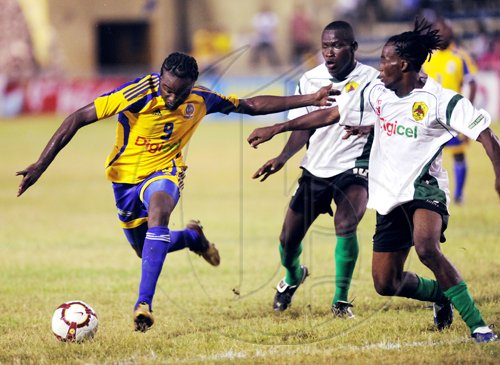 Ricardo Makyn/Staff Photographer. Harbour View vs Humble Lions at the Harbour View Mini Stadium,Harbour View won the encounter with a John-Ross Edwards Goal on Sunday 29.8.2010.