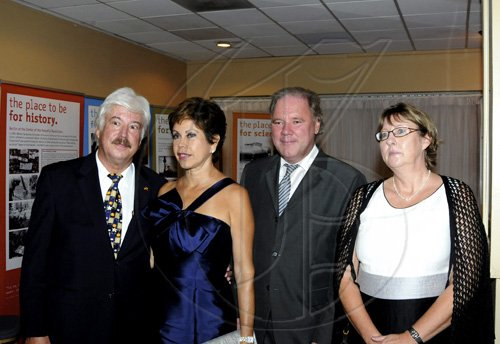 Winston Sill / Freelance Photographer German Ambassador Jurgen Engel (left) and wife Ana Martha (second left) share camera time with his deputy Michael Kroener and his wife Iris. ***********************************************************************  host German Day of Unity Reception, held at the Jamaica Pegasus Hotel, New Kingston on Monday night October 4, 2010.