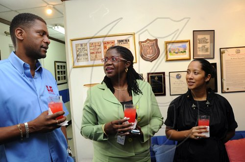 Rudolph Brown/Photographer The Rotary Book Drive luncheon at the Gleaner company in Kingston on Tuesday, July 27-2010