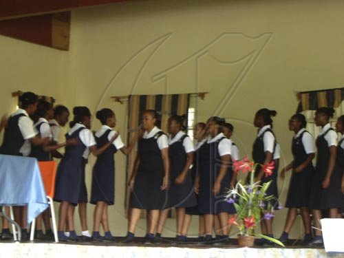 Students of Westwood High School perform an item during the Governor-General's visit to the school on Tuesday.