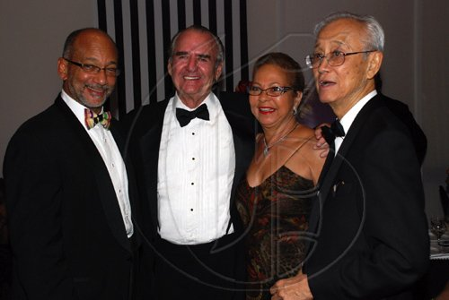Colin Hamilton/Freelance Photographer PSOJ Hall of Fame on December 7, 2010 - From left, Douglas Oraine, Tony Hart, Lorna Myers, Karl Hendrickson.