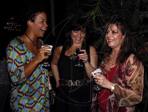 Colin Hamilton/Freelance Photographer The girls from left are Debbie Salmon, Rosa Joseph and Leila Younis out and having fun at the wine and cheese reception held at Kenny Benjamin resident on Friday, September 25, 2009.