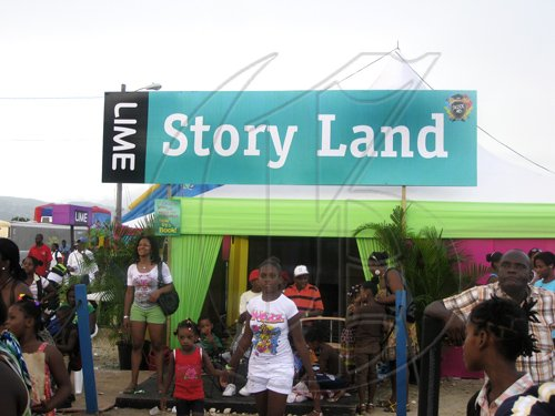 Mel Cooke photo  The entrance to Storyland, positioned in a prime spot at LIME Skool Aid last weekend.