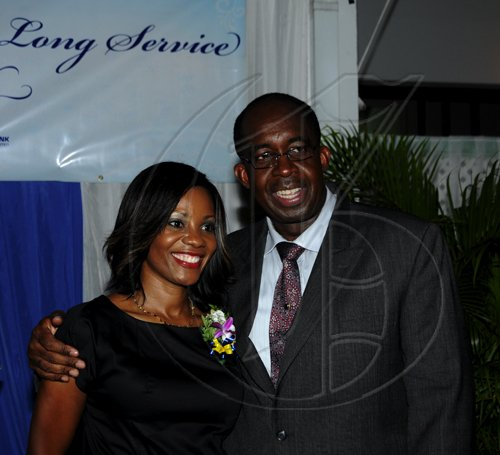 Winston Sill / Freelance Photographer National Commercial Bank (NCB) Long Service Awards 2010 function, held at Caymanas Golf and Country Club on Thursday September 23, 2010. Here are Belinda Williams (left); and Patrick Hylton (right).