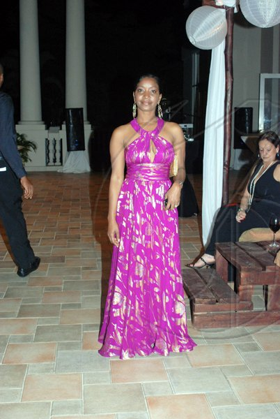 Janet Silvera/Coordinator Hospitality Jamaica Digicel's Jacqueline Burrell was a sight  to behold at the Pineapple Ball last Saturday.    eye to behold at the Jamaica Committee Pineapple Ball at the Ritz Carlton Rose Hall last Saturday night.