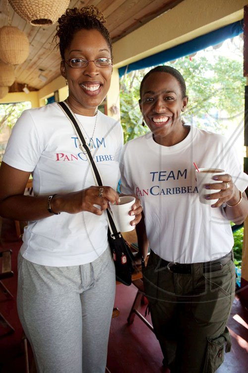 From February's Sigma 5K Run to Sunday's Jake's Off-Road Triathlon, Team PanCaribbean is always getting their workout on! Carlette DeLeon, managing director of Breakthrough Communication and Suzette Shaw-Reid, Group PR Officer for Pan-Caribbean, were part of a large contigent from the company, who had a sponsored team at the Jake's Off-Road Triathlon.