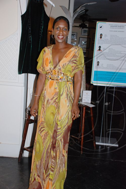 Janet Silvera Photo   Angella Whitter looking fab in this get up at the Hanover Charities Sugar Cane Ball at the Round Hill Hotel and Villas last Saturday night.