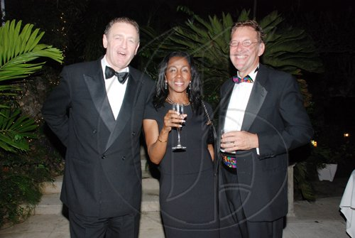 Janet Silvera Photo   From left: Andrew and Theresa Roberts and Mark Jones having a grand time.  *********************************************************d a great time at the Hanover Charities Sugar Cane Ball at the Round Hill Hotel and Villas last Saturday night.