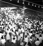 THIS WAS THE SCENE at Grants Pen Road with persons celebrating Independence Day on Monday, August 6, 1962,