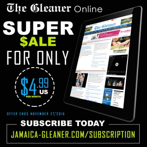 8 weeks unlimited access to Jamaica-Gleaner.com for ONLY US$4.99