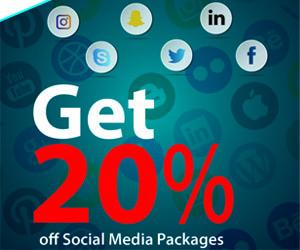Get 20% off Social Media