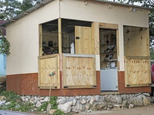 The shop where Imani green was kiled in Duncans, Trelawny- Richard Morais Photo.