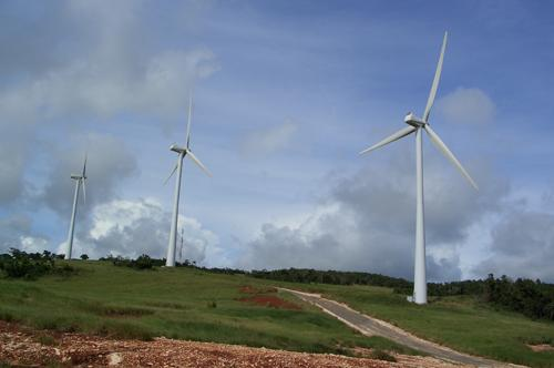 A section of the Wigton Windfarm in Manchester