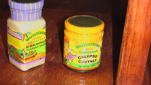 Walkerswood Coconut Run Down Sauce and Calypso Chutney.